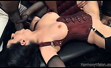 Beautiful babe loves two huge cocks