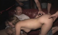 Gangbang Bitch Gets Tattoo on her Pussy!