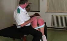 hard and firm spanking