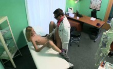 Petite blonde patient getting fucked by her doctor