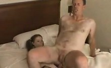 Sweet Girl Fucking A Guy With A Strapon