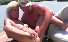 Granny got a load of hot sperm