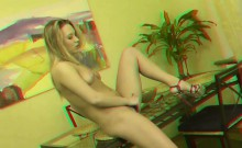 Hot blondie was smoking a cigar when she realized she