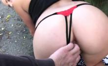 Perfect ass Czech blonde fucked outdoor pov