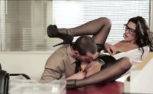 Sexy Latina Alexa Tomas fucked by her officemate on the desk