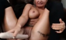 webcam girl milf big dildo masturbation