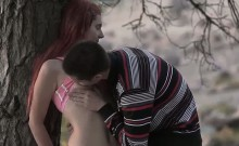 British teen couple kissing and fucking outdo