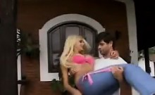 Blonde Brazilian Double Penetrated Outside