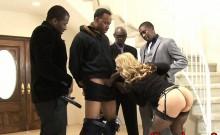 Busty whore analyzed with black dicks