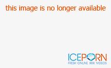 Redhead Eva gets into a strangers car