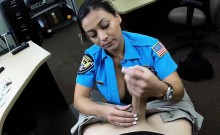 Security officer fucked at the pawnshop