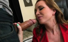 Foxy Lady Sucks Big Hard Cock Of Her Cook