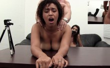Exotic Threeway Audition for Backroom Casting Couch