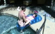 Hot Lily Gets Gagged and Fucked Doggystyle by the Poolside