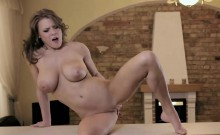 Busty Vanea H masturbating on the counter top