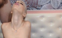 Hot Blonde Blows Him Till He Cums On Her Face