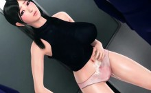 Big boobed anime doll gets drilled