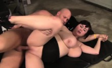 Cute BBW Beverly Page Hard Fucked By Her Trainer At The Gym