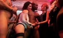 Sexy cuties get fully wild and naked at hardcore party