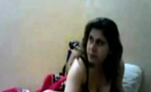 Curvy Arab girlfriend smokes and fucks