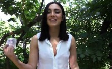 Eurobabe Jenny Sapphire drilled in the woods for cash