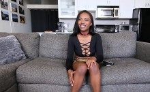 TeenyBlack - Big Titty Petite Ebony First Porn Shoot