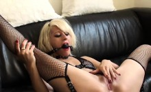 Freaky blonde babe is eager to be punished and fucked rough