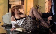 Redhead Babe gets Dick at Office
