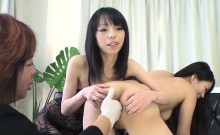 Demure asian receives rough cookie drilling after anal
