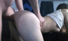 Amateur couple fucking on webcam in doggystyle position