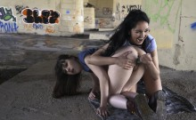 CHICAS LOCA - Lesbian babes fuck in an abandoned place