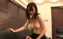 Sexy playgirl blows and gets shaved pussy banged furiously