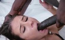Skinny White Teen Fucked Rough by BBC!
