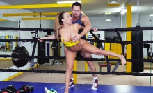 TeamSkeet - Brunette With Big Ass Takes Cock Post Sparring