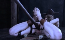 Gagged girl is being punished for being such a bitch