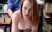 Katy deep throats horny officer