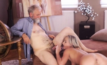 Blonde Fucks Man With Strapon And Russian Teen Fingering Pus