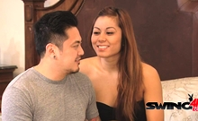 Supportive Boyfriend Takes His Chick To A Swingers Party