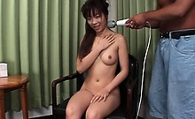 Asian foreplay with hairy pussy fingering and sex toying
