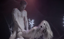 Sexy teen and her partner taken by aliens for foursome