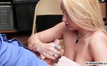 Shoplifter Teen Carmen Callaway gets feed by LPs bigcock