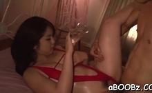 Worshipped japanese babe Homare Momono gets to big orgasm