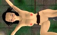 3D Slave Girl Vs Fuck Machine!