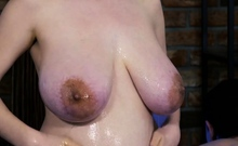 real slippery massage sex with preggo stepsis