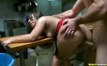 Check out this latin hottie getting fucked hard in the back