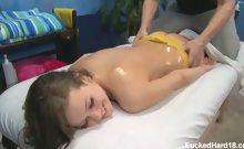 Cute 18 year old Ashlynn Leigh seduced and fucked hard