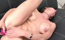 Trixie is fucking her ass with a dildo